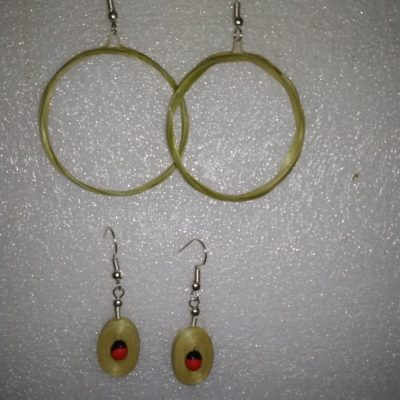 bamboo earrings for girls made by hand in meghalaya India bharat 4