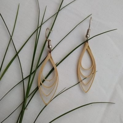 bamboo earrings for girls made by hand in meghalaya India bharat 7